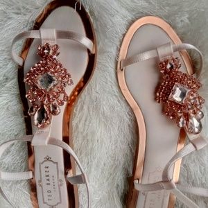 cbe70c5cb Ted Baker Shoes - Ted Baker Tie the Knot Roseupe Jewelled Sandals